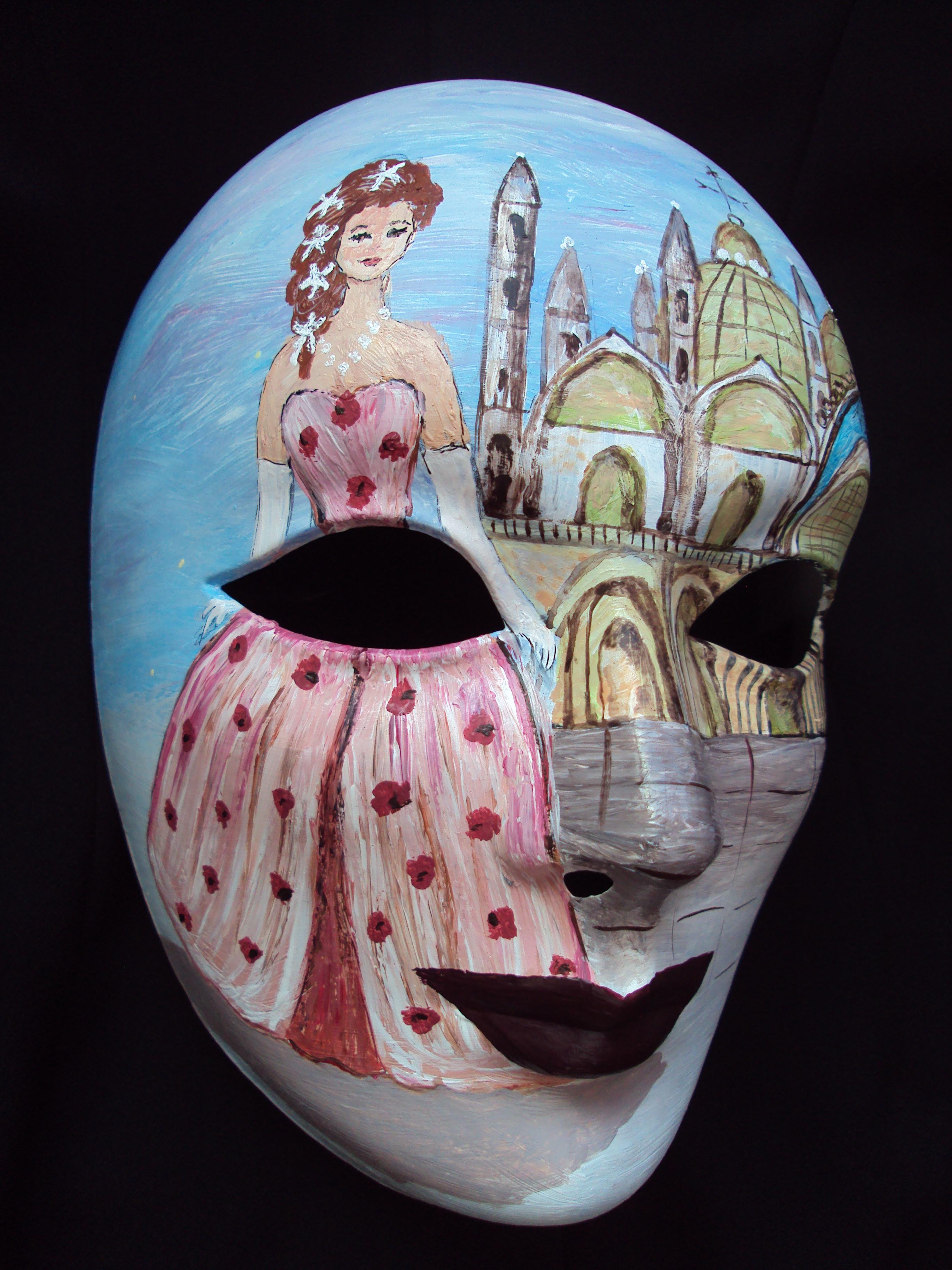 Peinture sur masque v nitien chantal costumes - Masque a peinture ...